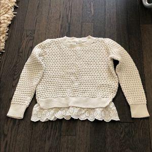 Gap Kids Sweater with underlay detail